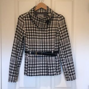 H&M houndstooth peacoat, size 2
